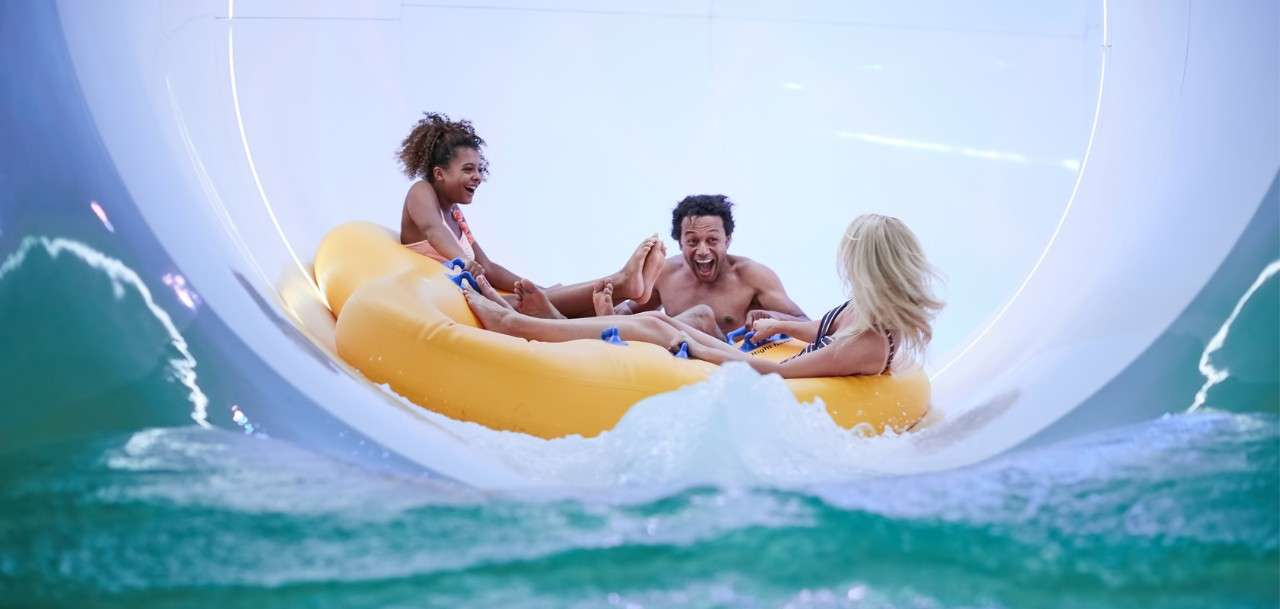 A family of three on our raft ride - Tropical Cyclone
