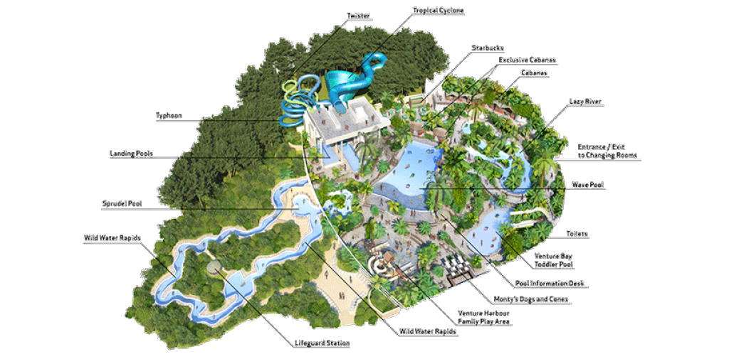Centre Parcs Whinfell Map Subtropical Swimming Paradise | Water Park Holidays | Center Parcs