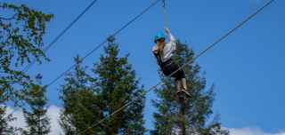 Zip wire on Aerial Adventure activity