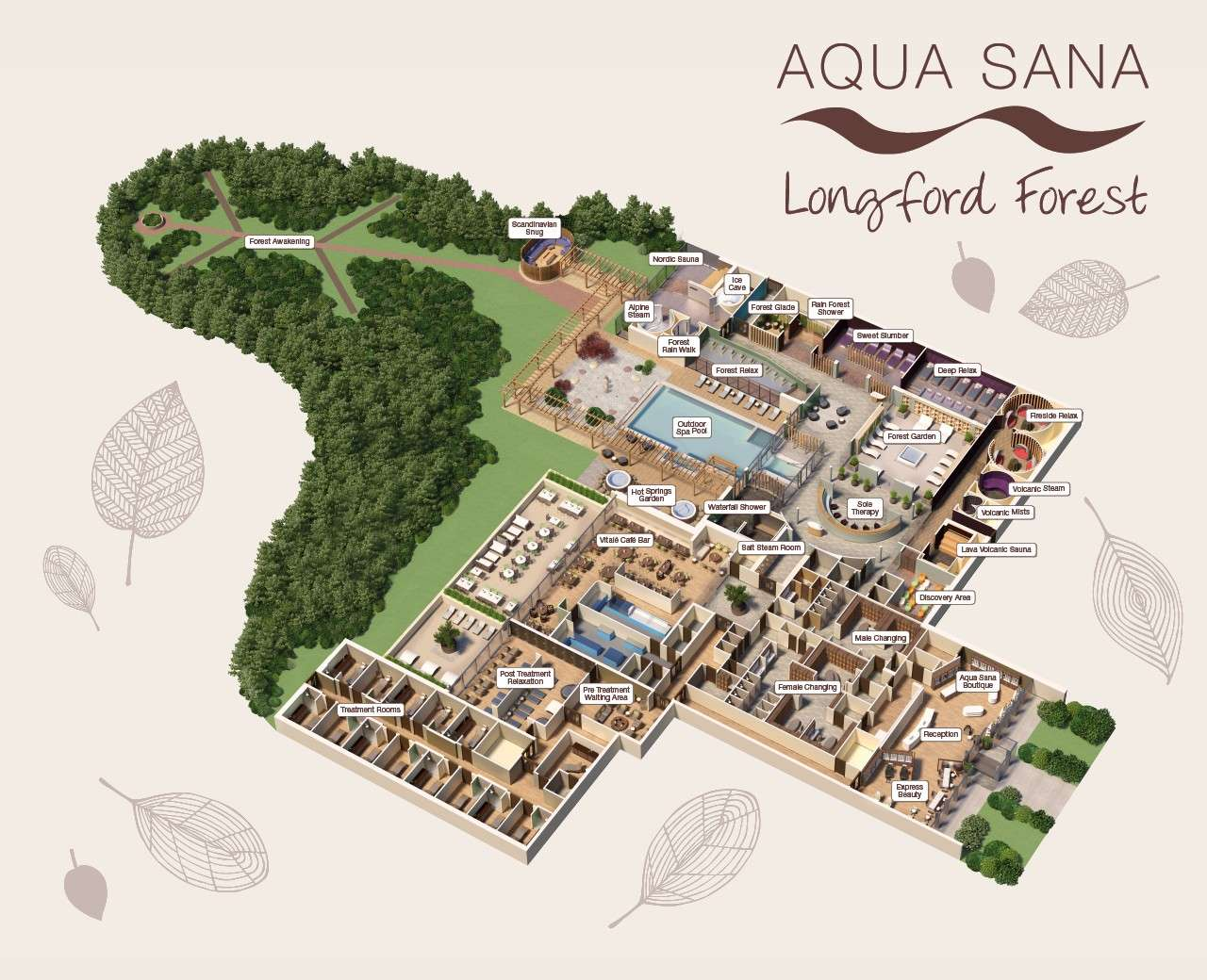 Longford Forest Aqua Sana Spa Map