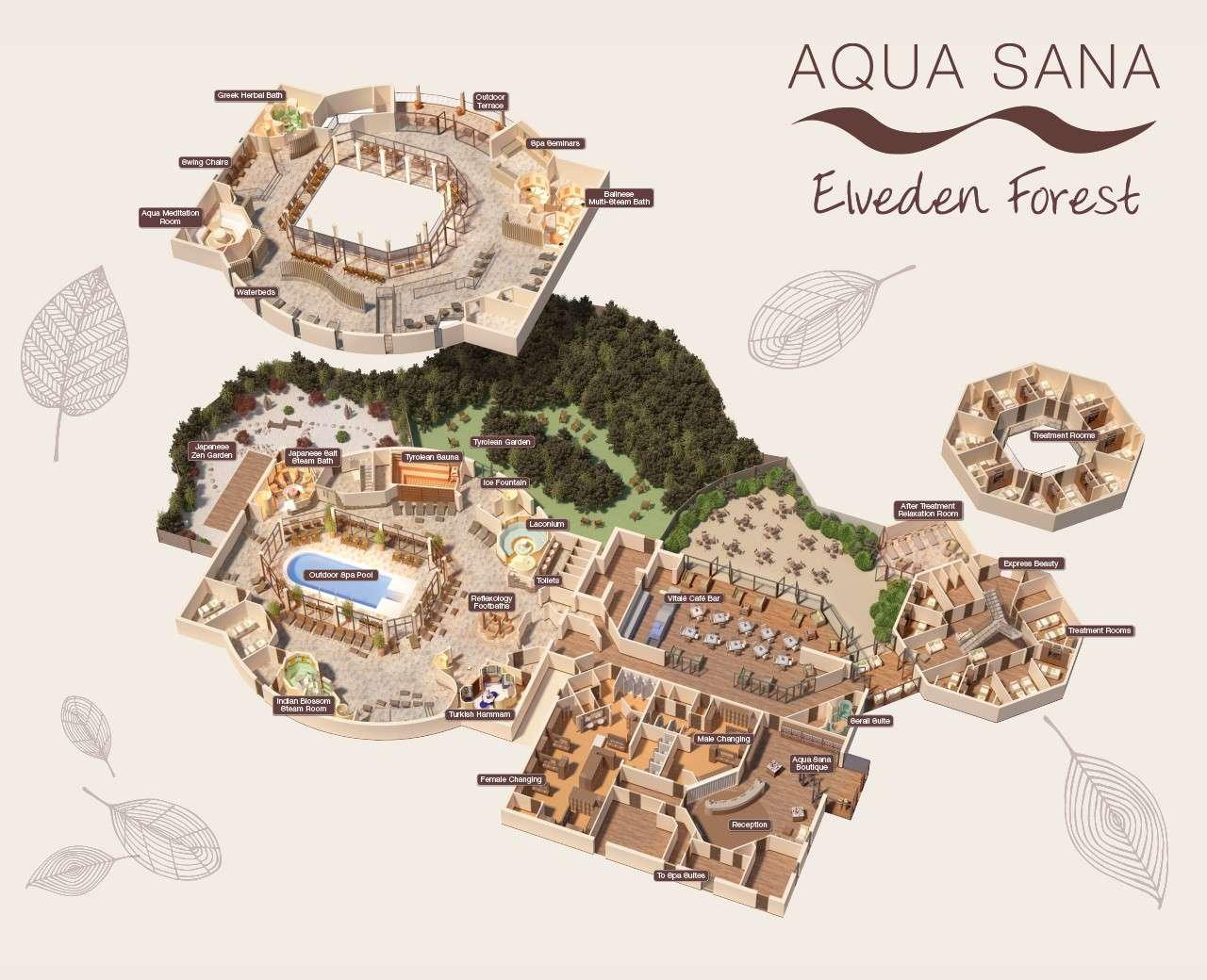 Elveden Forest Aqua Sana Spa Map