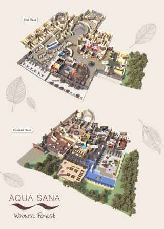 Woburn Forest Aqua Sana Spa Map
