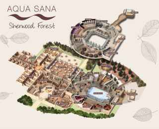 Sherwood Forest Aqua Sana Spa Map
