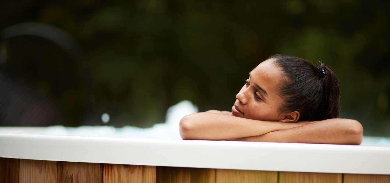 Woman relaxing at a wellness spa session
