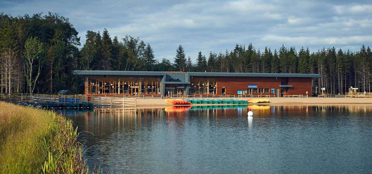 Pancake House at Longford Forest behind the beach and watersports lake