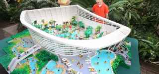 Subtropical Swimming Paradise made from Lego